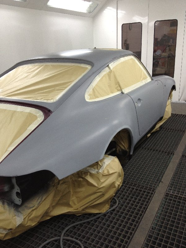 Porsche 993 Arena Red in primer