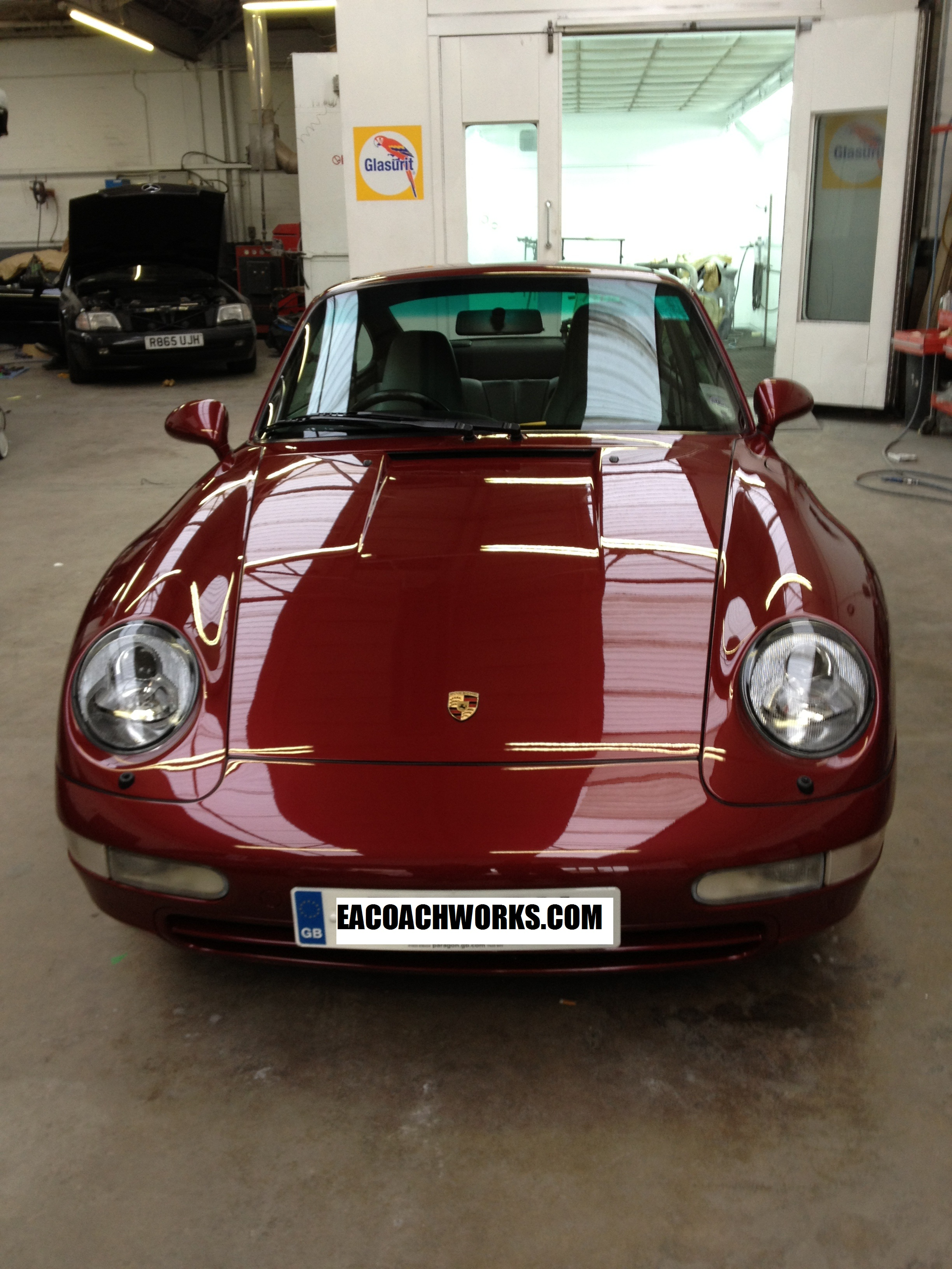 Arena Red Porsche 993 Resprayed